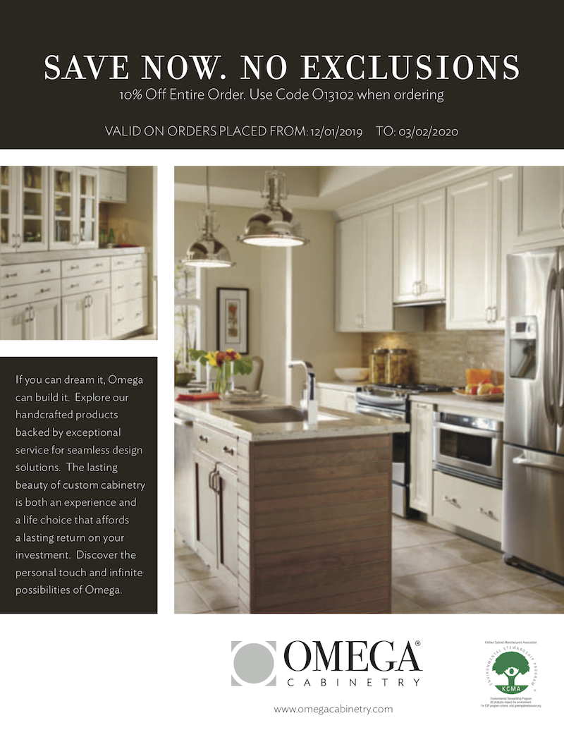 Omega 10% Off Entire Order - Acorn Kitchen and Bath